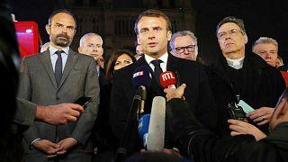 ماكرون يعلّق حملته في انتخابات البرلمان الأوروبي بعد حريق نوتردام
