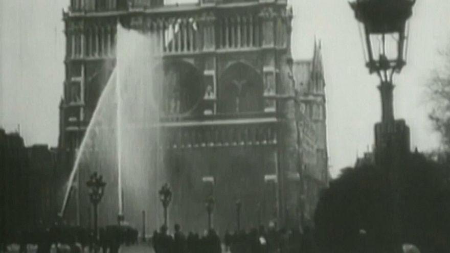 Notre-Dame, esattamente 91 anni fa idranti in azione ma per un'esercitazione