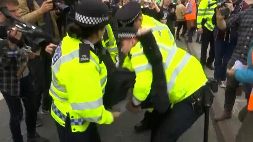 Londres sous le coup d'une vaste opération de désobéissance civile en faveur du climat