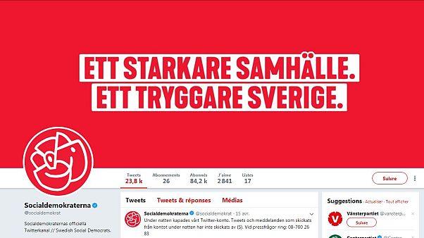 اختراق حساب الحزب الحاكم في السويد على تويتر ونشر تغريدات معادية للمسلمين