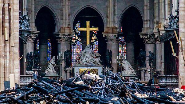 کلیسای جامع نوتردام پاریس، فردای آتشسوزی