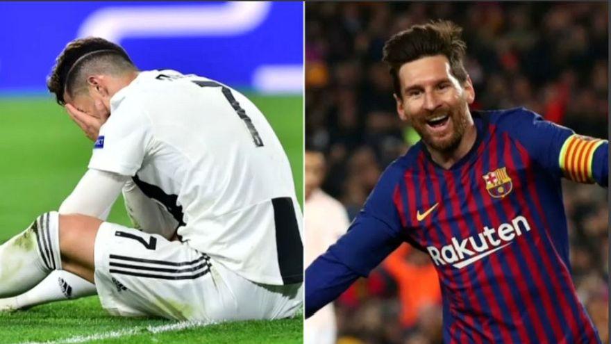 Champions: Messi en la gloria, Ronaldo en la cuneta