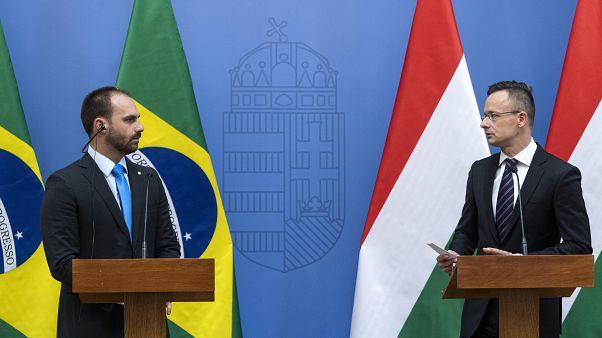 A brazil elnök fia idejött megtanulni, hogyan kell elbánni Sorossal