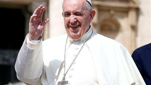 Le pape François, ce mercredi 17/04/2019