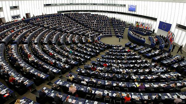 MEPs take part in a voting session in Strasbourg