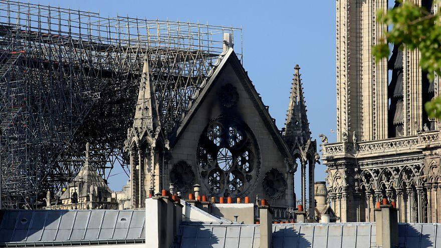 كاتدرائية نوتر دام بعد الحريق