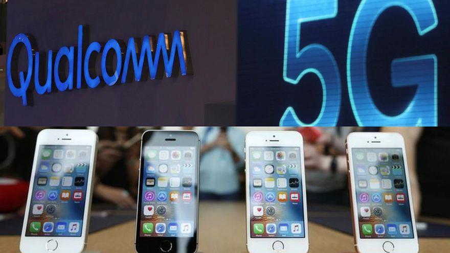 5G teknolojisi yarışında Apple ile Qualcomm patent konusunda anlaştı