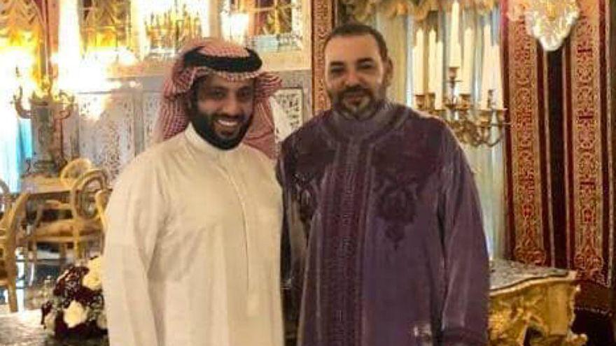 تركي آل شيخ بصحبة الملك محمد السادس