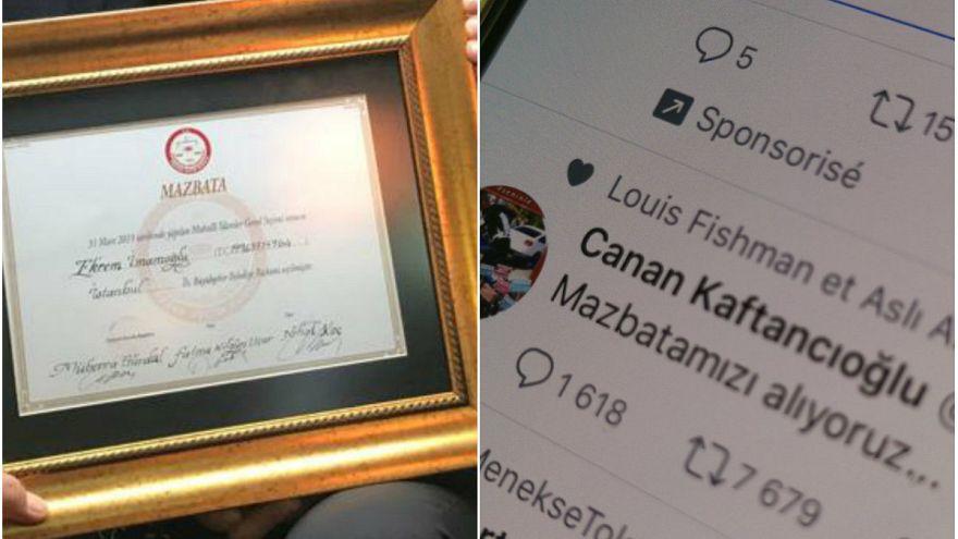 İmamoğlu mazbatasını aldı sosyal medyadan destek mesajları yağdı