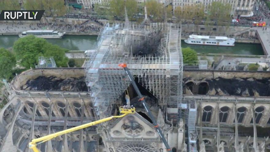Παναγία των Παρισίων: Drone αποκαλύπτει το μέγεθος της καταστροφής