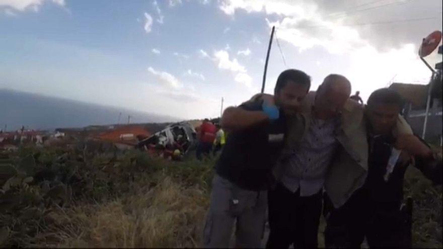 Au moins 28 morts dans un accident de bus à Madère au Portugal