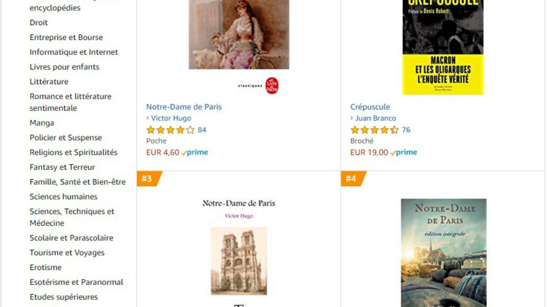Victor Hugo S Notre Dame De Paris Tops Amazon Best Seller