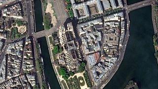 تصاویر هوایی پس از آتشسوزی کلیسای نوتردام