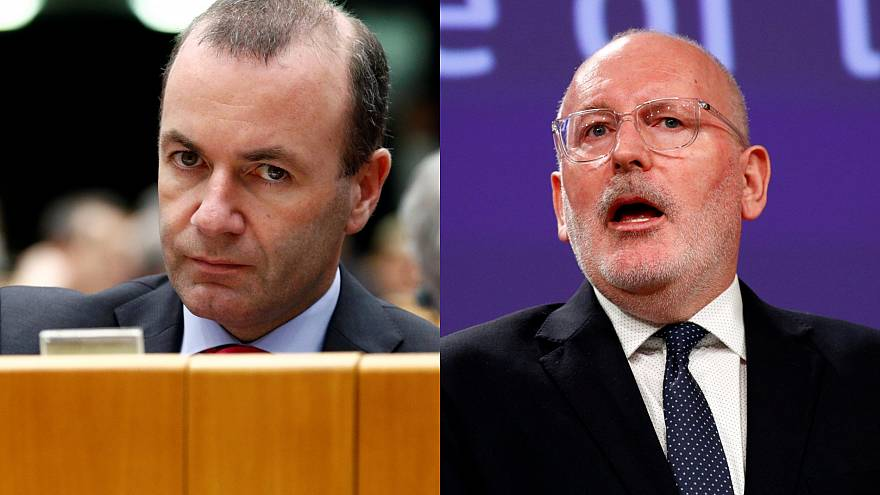 Elecciones europeas: Timmermans vs Weber