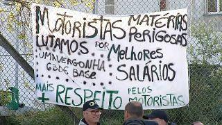 Acaba la huelga de camioneros en Portugal