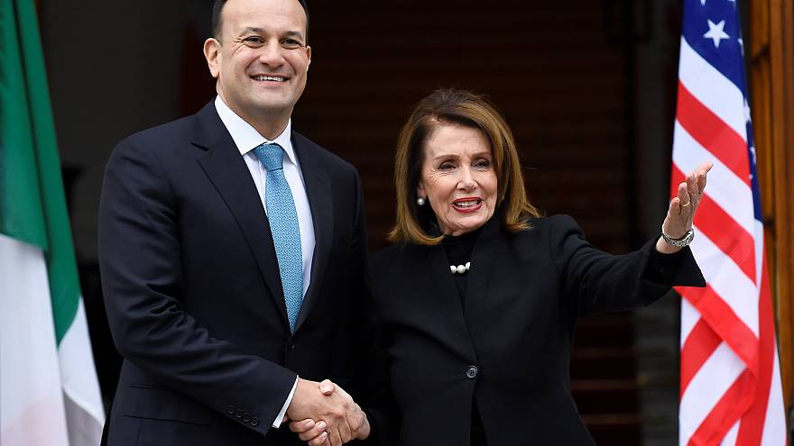 Ireland's Prime Minister Leo Varadkar and U.S. House Speaker Nancy Pelosi