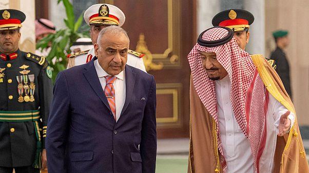 دیدارهای نخست وزیر عراق با ملک و محمد بن سلمان در ریاض