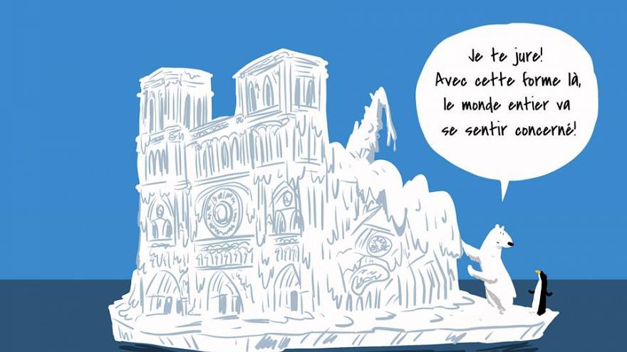 Viral climate cartoon uses satire to question Notre Dame donations   #TheCube