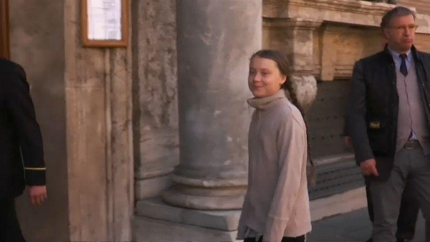 Greta Thunberg clama contra los políticos en su viaje a Italia
