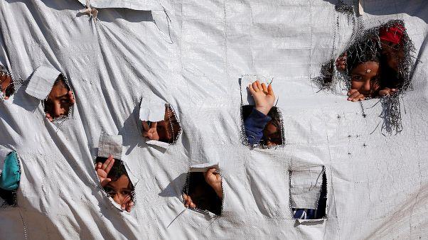 صورة لأطفال بمخيم في سوريا
