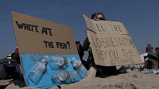 Proteste am Strand: Belgische Schüler picknicken gegen den Klimawandel