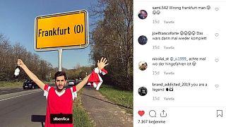 Benfica taraftarı maç için 600 km mesafedeki yanlış 'Frankfurt'a gitti