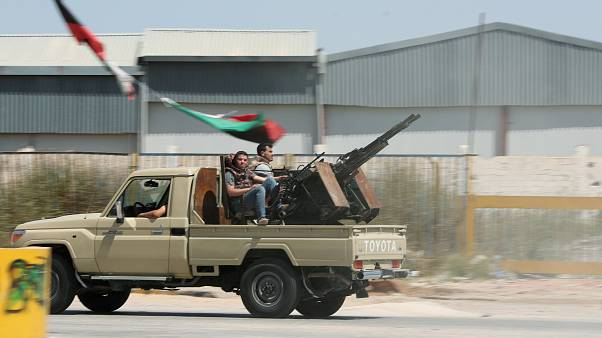Members of the Libyan internationally recognised government forces