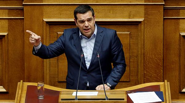 Greek Prime Minister Alexis Tsipras on April 17, 2019.