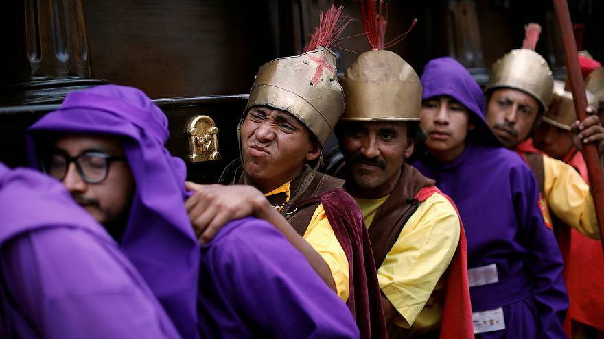 Gläubige begehen Karwoche: Bilder aus Guatemala, Rom und Malta