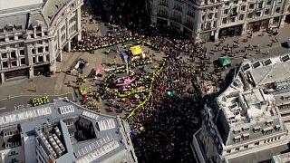 Londres : cinquième jour de mobilisation des écologistes