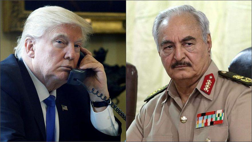 Trump Libya'nın başkenti Trablus'u ele geçirmek isteyen General Hafter ile görüştü