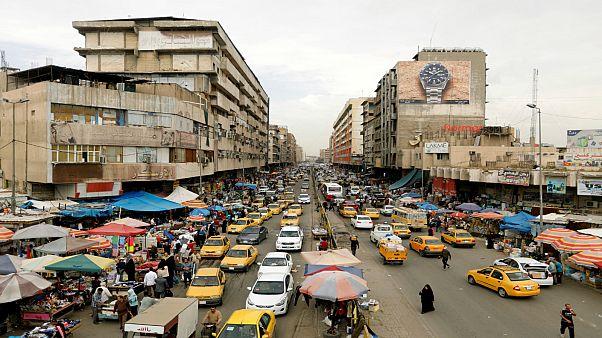 منظر عام لسوق الشجرة في بغداد