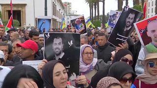 Des centaines de marocains réclament la libération des détenus du Hirak