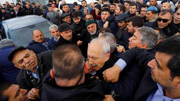 Kemal Kilicdaroglu attacked by a man during a funeral ceremony near Ankara