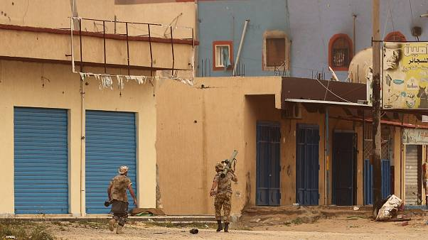 Forze del Governo di accordo nazionale libico (Gna) ad Ain Zara