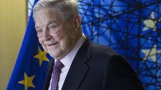 Soros György Brüsszelben