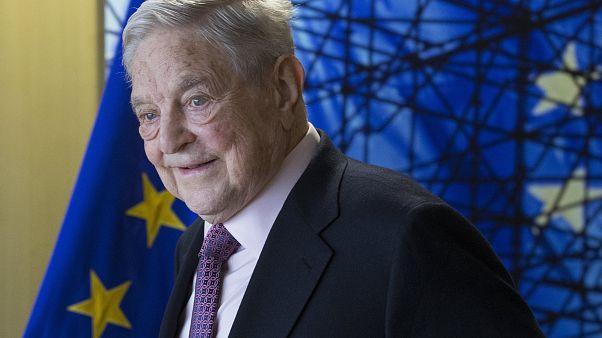 Soros György Brüsszelben 2017-ben