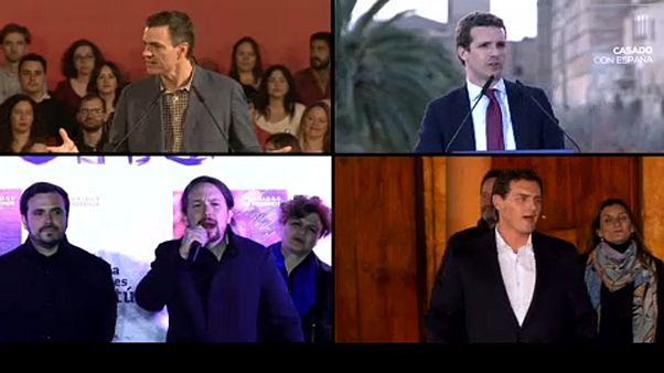 TV-Debatte in Spanien mit 4 Parteichefs