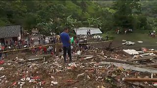 رانش مرگبار زمین در پی باران شدید در کلمبیا