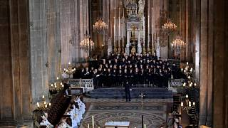 The choir during Easter Sunday Mass at Saint-Eustache.