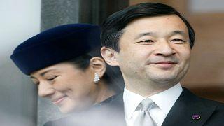 لأمير ناروهيتو ولي العهد الياباني وزوجته الأميرة ماساكو في طوكيو