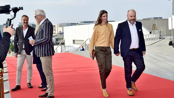 Anders Holch Povlsen e la compagna Anne nel maggio 2018