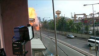 Colombo: Scene of van blast near St Anthony's church