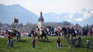 Кавалькада Cв. Георгия в Баварии