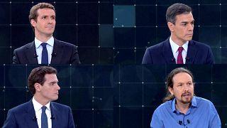 España: primer debate electoral a cuatro