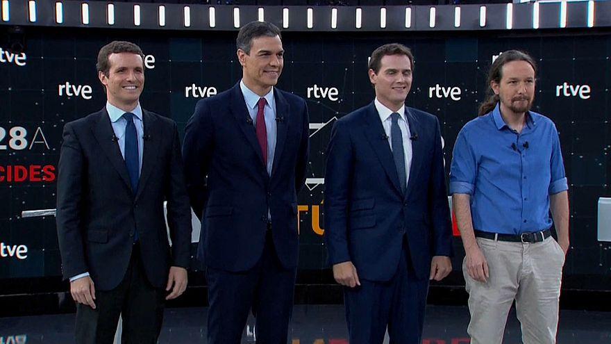 إسبانيا: مناظرة لزعماء الأحزاب قبيل الانتخابات وكاتالونيا العنوانُ الأبرز في برامج المرشحين