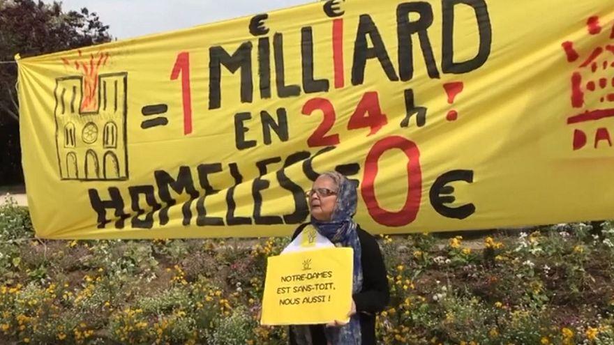 اعتراض بیخانمانهای پاریس علیه کمک میلیاردی به بازسازی نوتردام