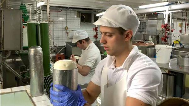 Alexandros Tsourekas, a cheese factory worker in Metsovo, Greece