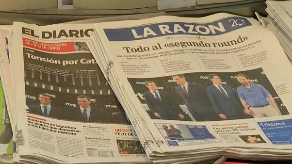 TV-Duell: Showdown der spanischen Spitzenkandidaten