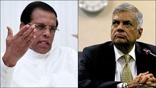 Sri Lanka Cumhurbaşkanı Maithripala Sirisena - Başbakan Ranil Wickremesingh